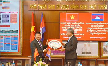 Đòan Campuchia thăm và làm việc tại Trường Cao đẳng Lê Quý Đôn
